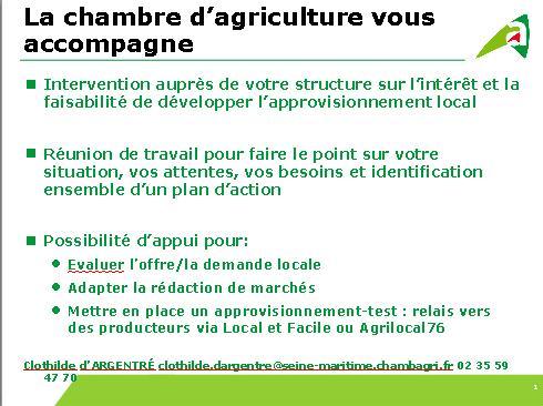 Offre alimentaire normandie - Chambre d agriculture offre d emploi ...